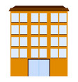 abstract big building vector image