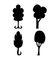 Abstract trees silhouette vector image vector image