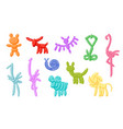 animal balloons balloon animals for happy vector image vector image
