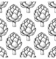 artichoke hand drawn seamless pattern vector image vector image