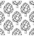 artichoke hand drawn seamless pattern vector image vector image