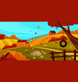 autumn landscape or fall scenery banner vector image vector image