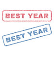 best year textile stamps vector image vector image