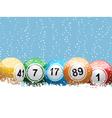 bingo balls vector image vector image