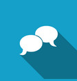 blank speech bubbles icon with long shadow vector image vector image
