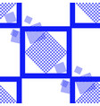 blue square seamless pattern vector image vector image