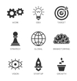Business process icons vector image vector image