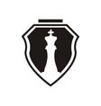 chess logo design vector image vector image