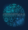 christmas round blue made with vector image vector image