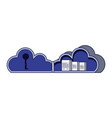 cloud computing with document and password vector image vector image