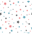 Cute seamless pattern with stars vector image vector image