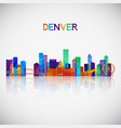 denver skyline silhouette in colorful geometric vector image vector image