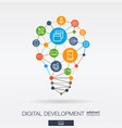development integrated thin line icons digital vector image