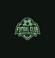 footbal futsall logo badge vector image vector image
