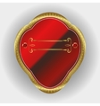 frame with gold rim vector image vector image