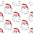 Funny Santa seamless pattern background vector image