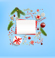 green fir tree branches vector image