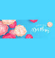 happy mothers day flower banner in french language vector image vector image