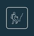 hiking man icon line symbol premium quality vector image