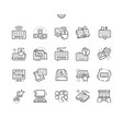 keyboard well-crafted pixel perfect thin vector image vector image