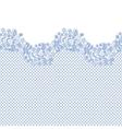 Lacy wedding invitation card vector image vector image
