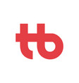 logo company letter t h and b vector image