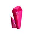 magenta mineral crystalic precious stone crystal vector image vector image