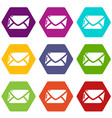 mail icons set 9 vector image vector image