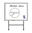 Market share vector image