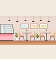 modern coffee shop empty no people cafeteria vector image vector image