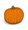 orange pumpkin cartoon vector image vector image