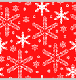 pattern snow red vector image vector image
