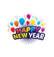 playful happy new year vector image vector image