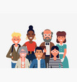 portrait diverse group people vector image vector image