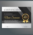 premium gold and black certificate design template vector image vector image