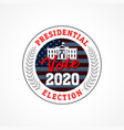 presidential election usa vote 2020 emblem vector image