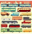 Public transportation buses Set elements vector image vector image