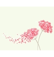 Romantic background with flowers hydrangea vector image vector image