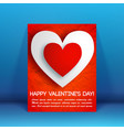 romantic beautiful greeting flyer vector image vector image