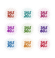sale label set business shop mall symbol vector image