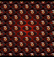 seamless pattern - dragon eyes vector image vector image