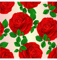 seamless texture red rose and leaves natural vector image