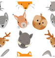 seamless texture with cartoon animals pattern vector image vector image