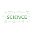 set of science and research thin line vector image