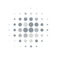 silver round halftone pattern design vector image