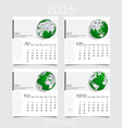 Simple 2015 year calendar May June July August vector image vector image