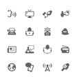 Simple News Icons vector image vector image