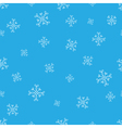 Snowflakes blue seamless pattern Snow christmas vector image