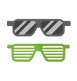 Striped glasses vector image