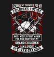 t-shirt veteran - i serve my country vector image